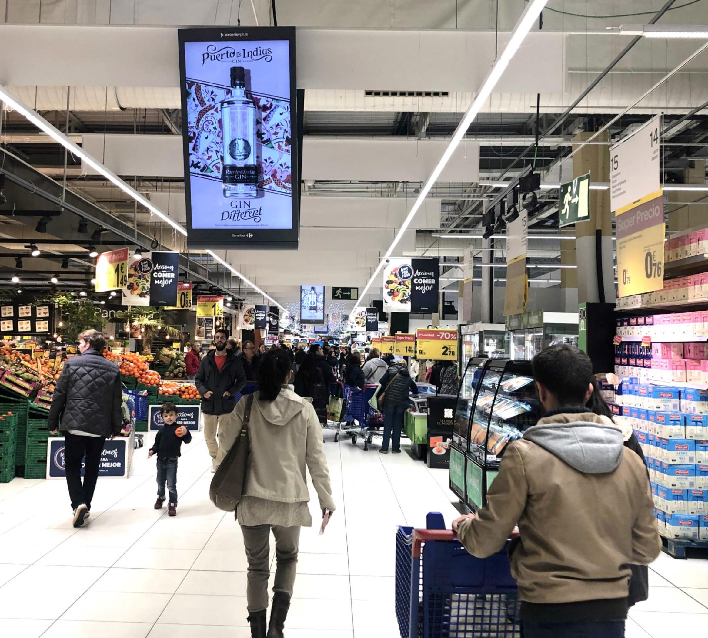 Circuito publicidad en supermercados